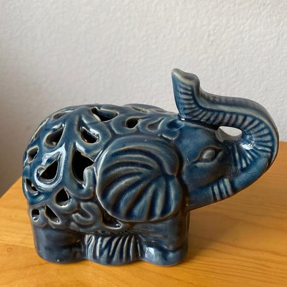 Elephant decor inserts vintage boho